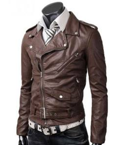mens-asymmetrical-brown-leather-jacket