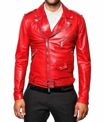 mens-red-leather-biker-jacket