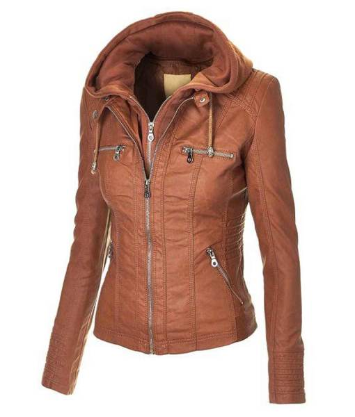 womens-brown-leather-jacket-with-hood