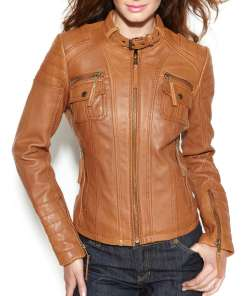womens-brown-leather-motorcycle-jacket