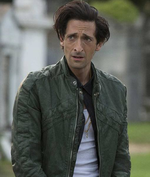 adrien-brody-green-leather-jacket