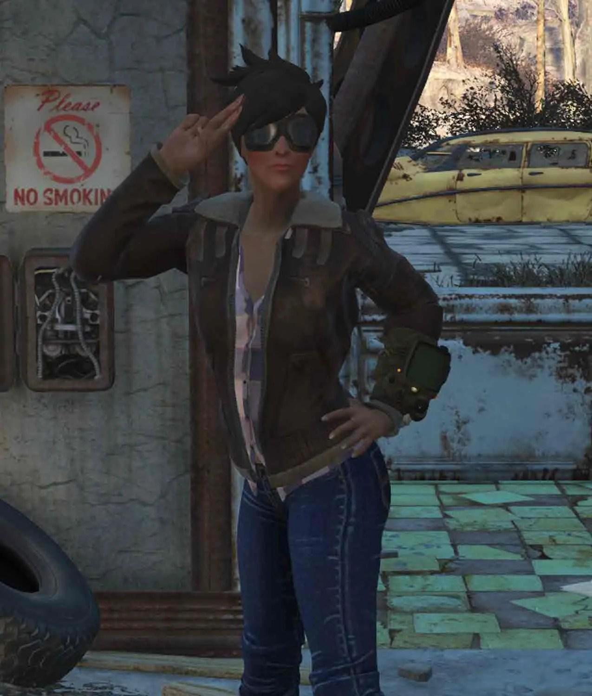 Shearling Fallout 76 Tracer Jacket Jackets Creator