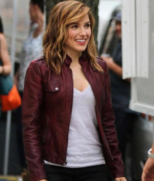 sophia-bush-leather-jacket