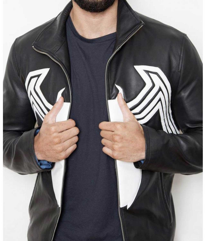 Venom Tom Hardy Eddie Brock Halloween Cosplay Faux Leather Jacket