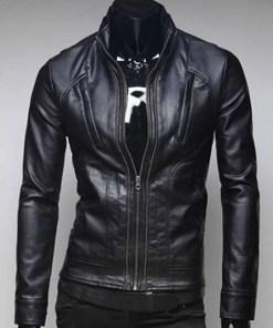 black-faux-leather-jacket