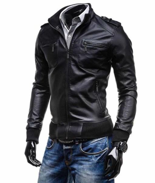 black-faux-leather-bomber-jacket