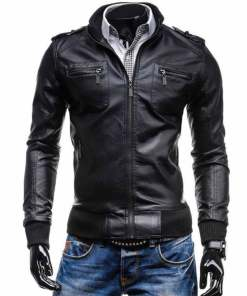 black-leather-bomber-jacket
