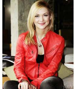 casual-wear-linda-hasse-red-leather-jacket