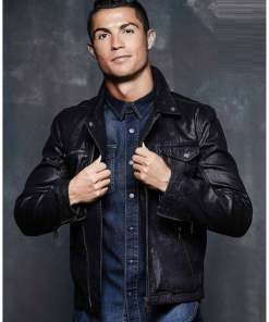 cristiano-ronaldo-leather-jacket