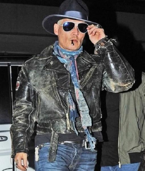 johnny-depp-black-leather-jacket