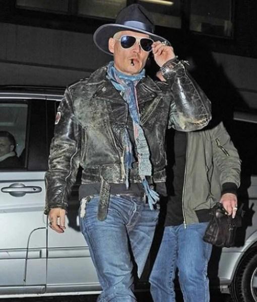 johnny-depp-distressed-leather-jacket