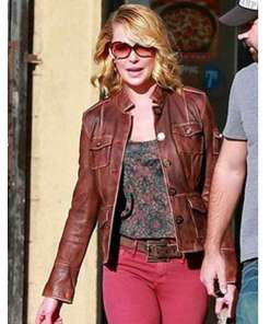 katherine-heigl-brown-leather-jacket