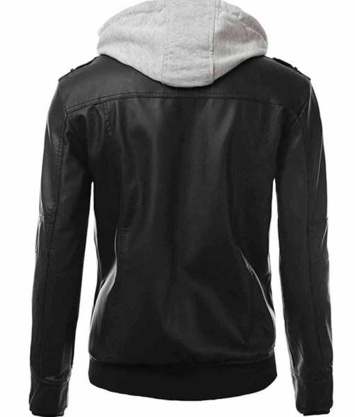 mens-black-leather-slim-fit-hoodie