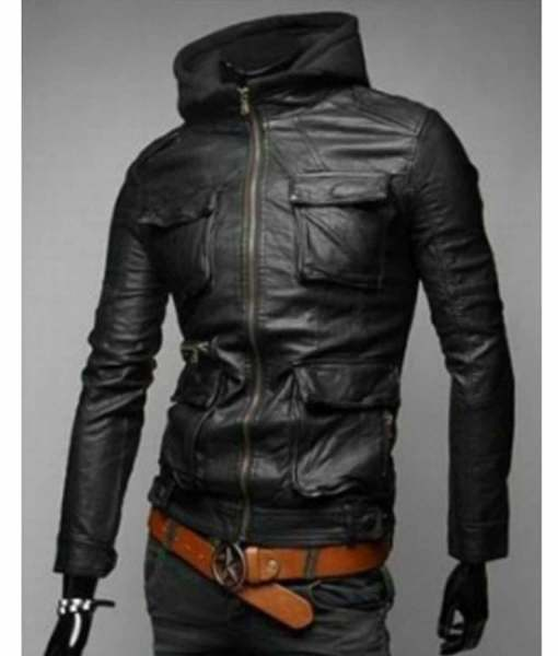 mens-slim-fit-black-leather-jacket-with-hood
