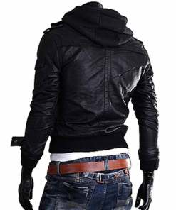 mens-slim-fit-black-leather-jacket-with-hoodie