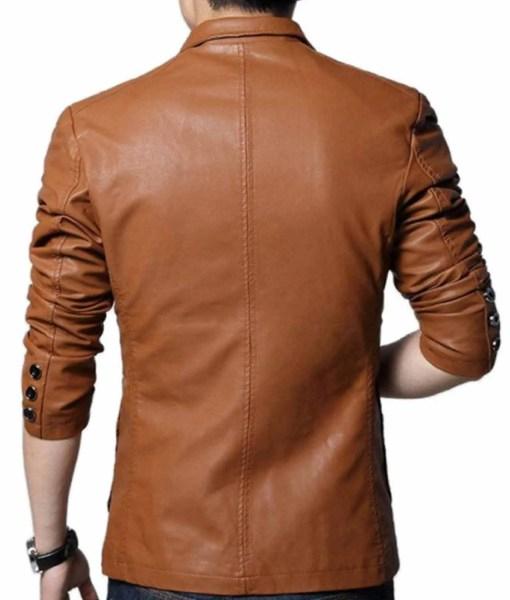 mens-slim-fit-brown-leather-blazer