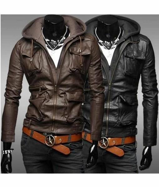 mens-slim-fit-black-leather-jacket-with-hood