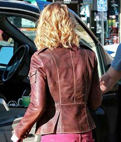 street-wear-katherine-heigl-brown-leather-jacket