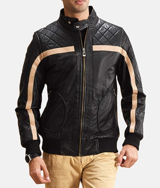 striped-diamond-quilted-mens-black-leather-bomber-jacket