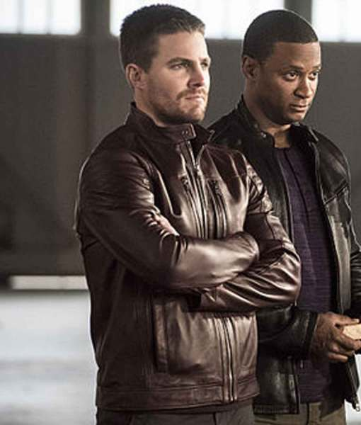 the-flash-oliver-queen-burgundy-leather-jacket