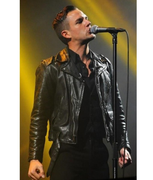 american-singer-brandon-flowers-black-leather-jacket