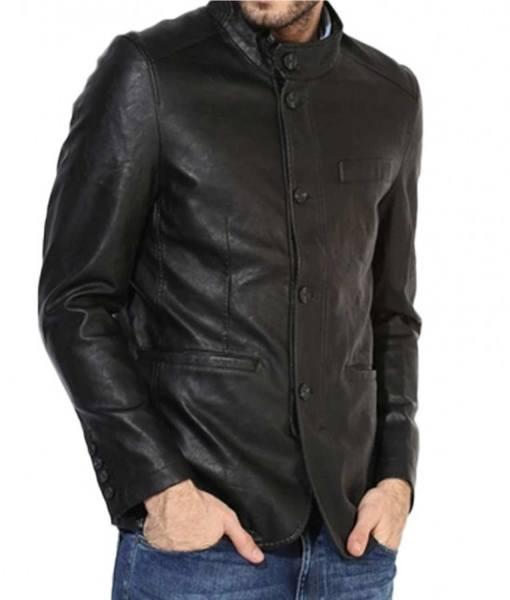 black-leather-blazer