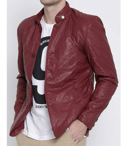 maroon-leather-blazer