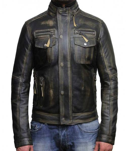 mens-biker-black-waxed-leather-jacket