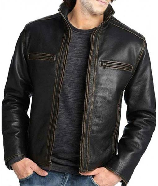 mens-casual-black-real-leather-jacket