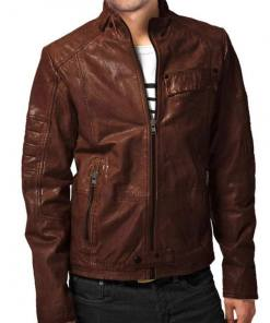 mens-designer-brown-leather-jacket