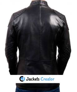 mens-flap-pockets-racing-black-leather-jacket