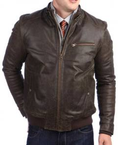 mens-vintage-brown-leather-bomber-jacket