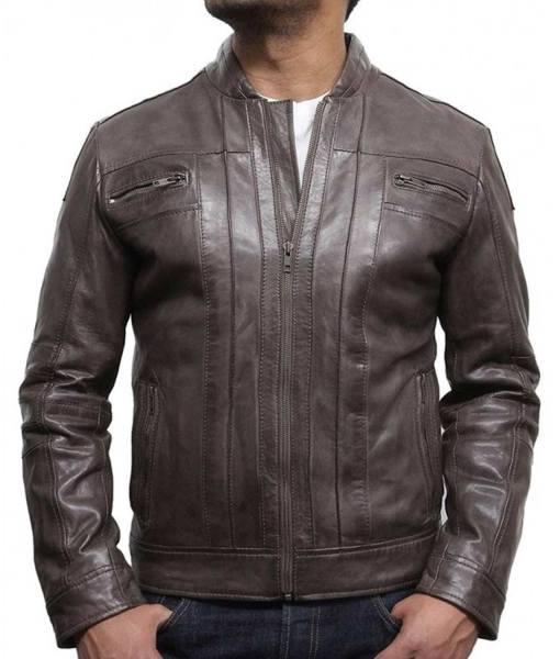 mens-zipper-pocket-designer-brown-leather-jacket