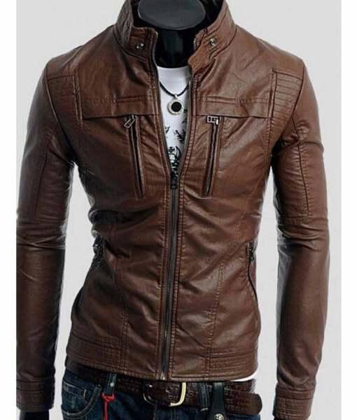 mens-slim-fit-leather-mandarin-collar-jacket