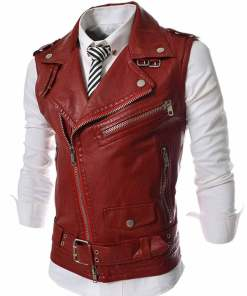 slim-fit-red-leather-vest