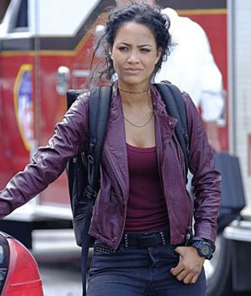 macgyver-riley-davis-purple-leather-jacket