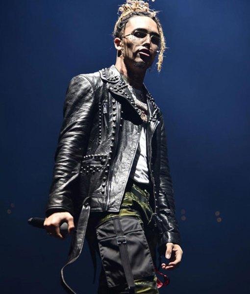 lil-pump-black-leather-jacket