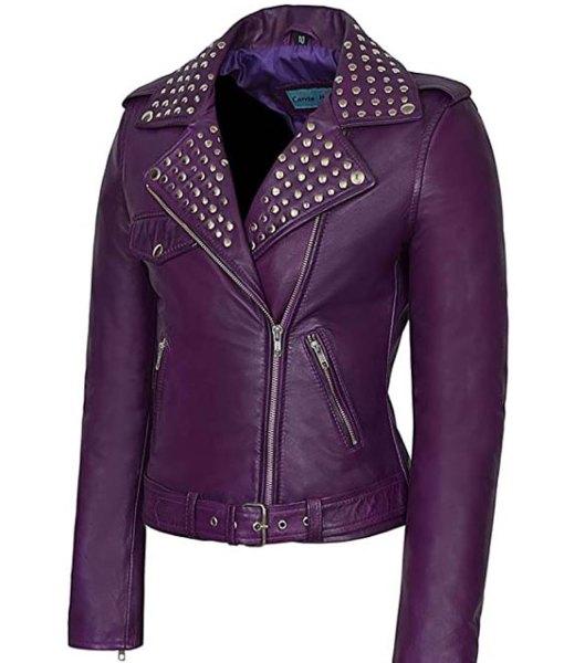 womens-purple-leather-jacket