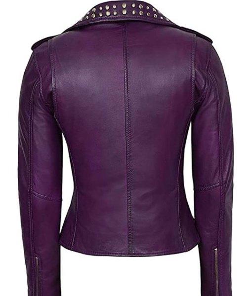 womens-purple-studded-moto-leather-jacket