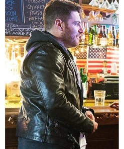 adam-pally-most-likely-to-murder-billy-green-leather-jacket