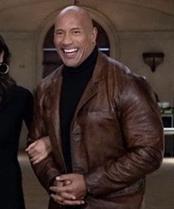 dwayne-johnson-red-notice-leather-coat
