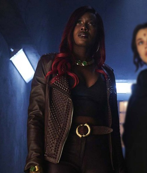 anna-diop-titans-kory-anders-leather-jacket