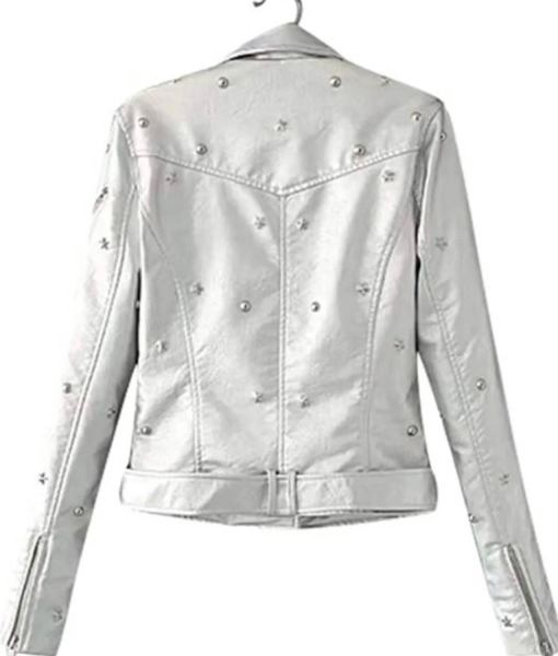 womens-studded-silver-jacket