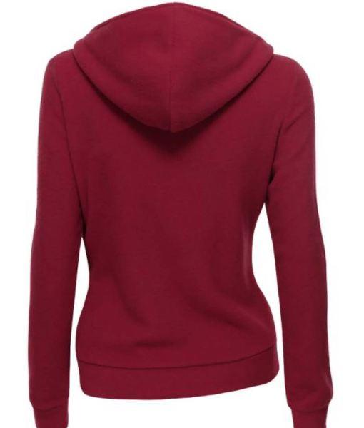womens-wool-burgundy-hooded-jacket