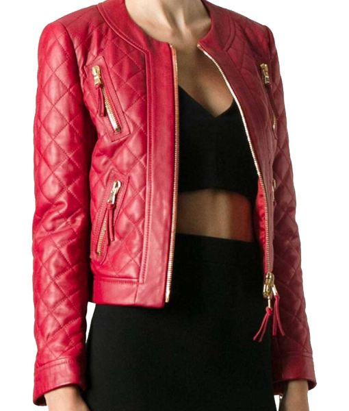 womens-red-zipper-pockets-leather-jacket