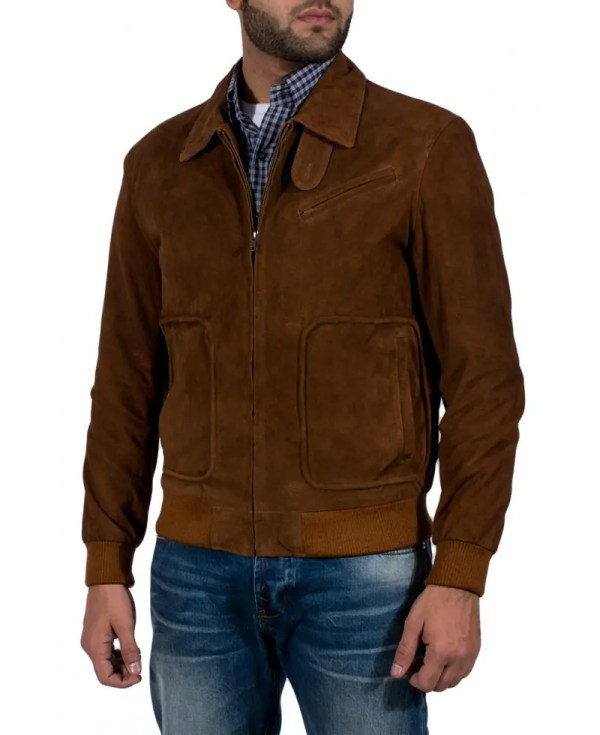 Matte Brown Suede Jacket - Jackets Maker