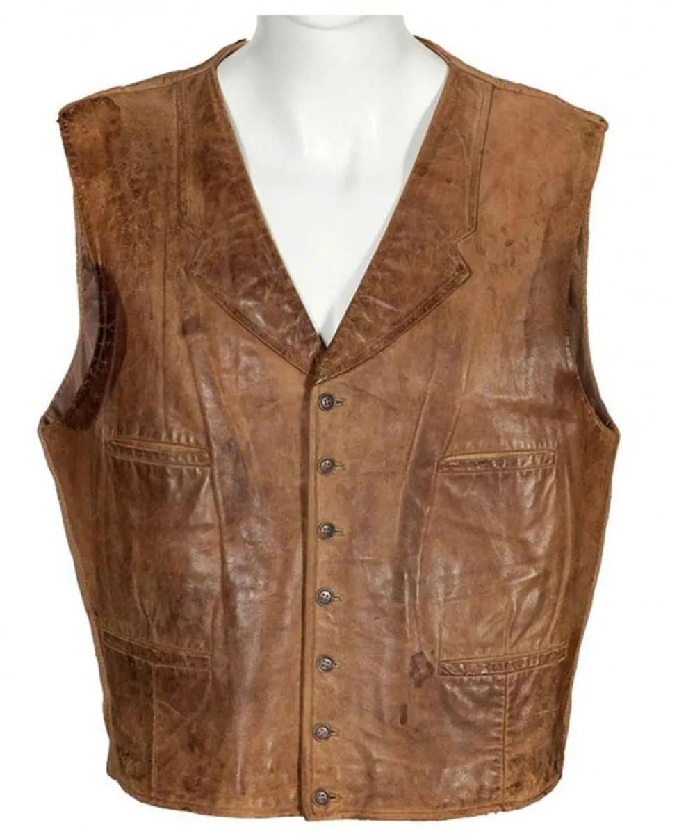 john wayne vest leather