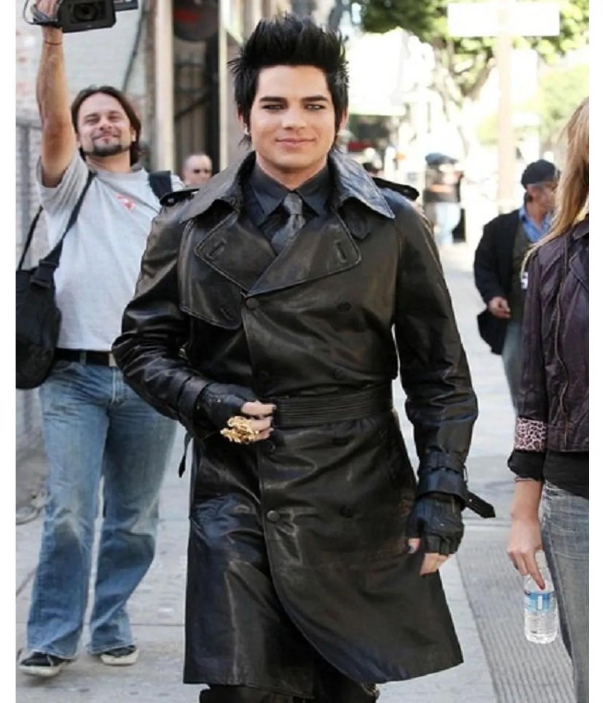 double-breasted-adam-lambert-black-leather-coat