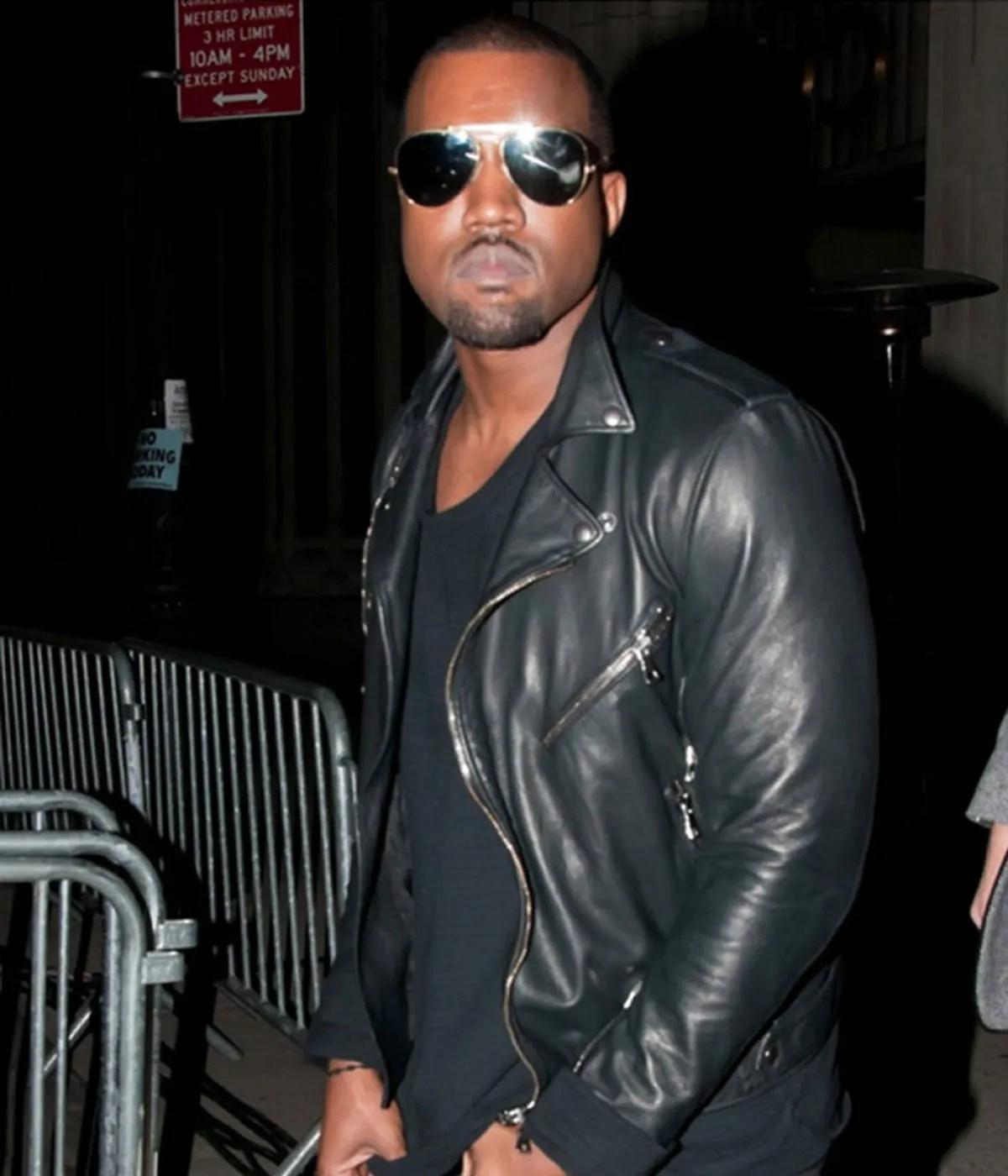 kanye-west-black-leather-biker-jacket