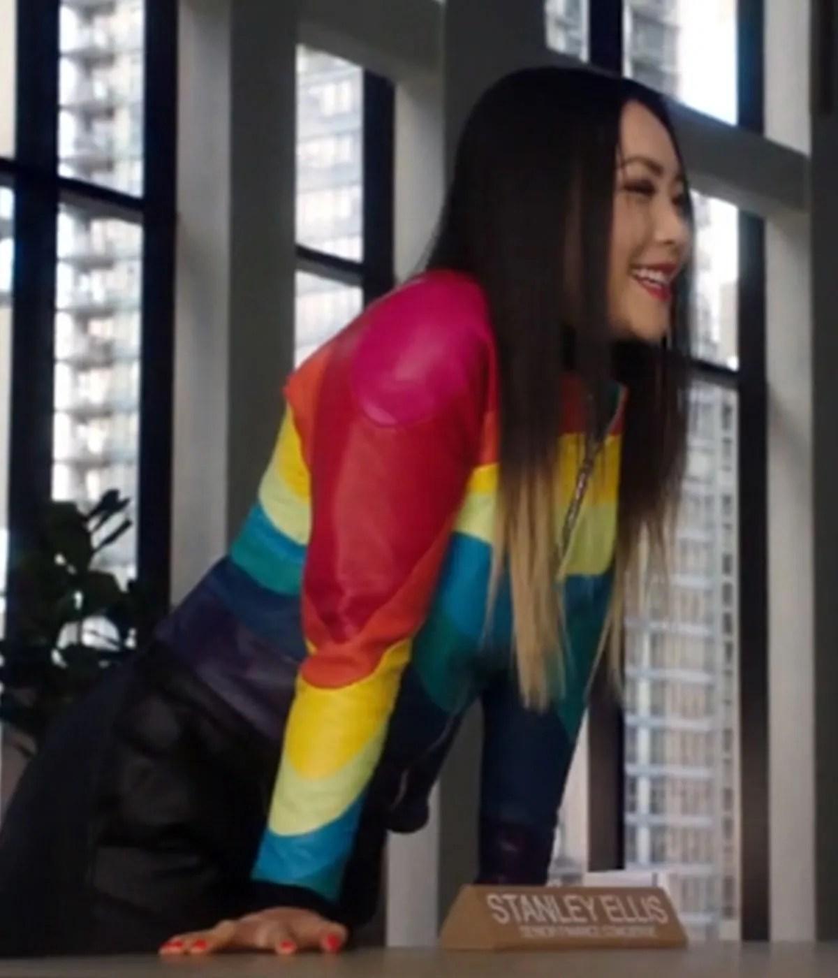 the-flash-carrie-bates-rainbow-raider-jacket